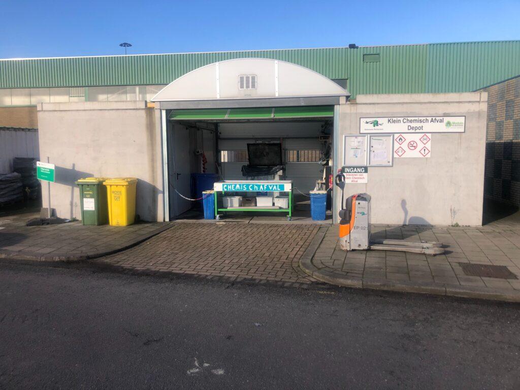 Depot voor klein chemisch afval KCA Rotterdam Modulo Milieustraten circulair bouwen