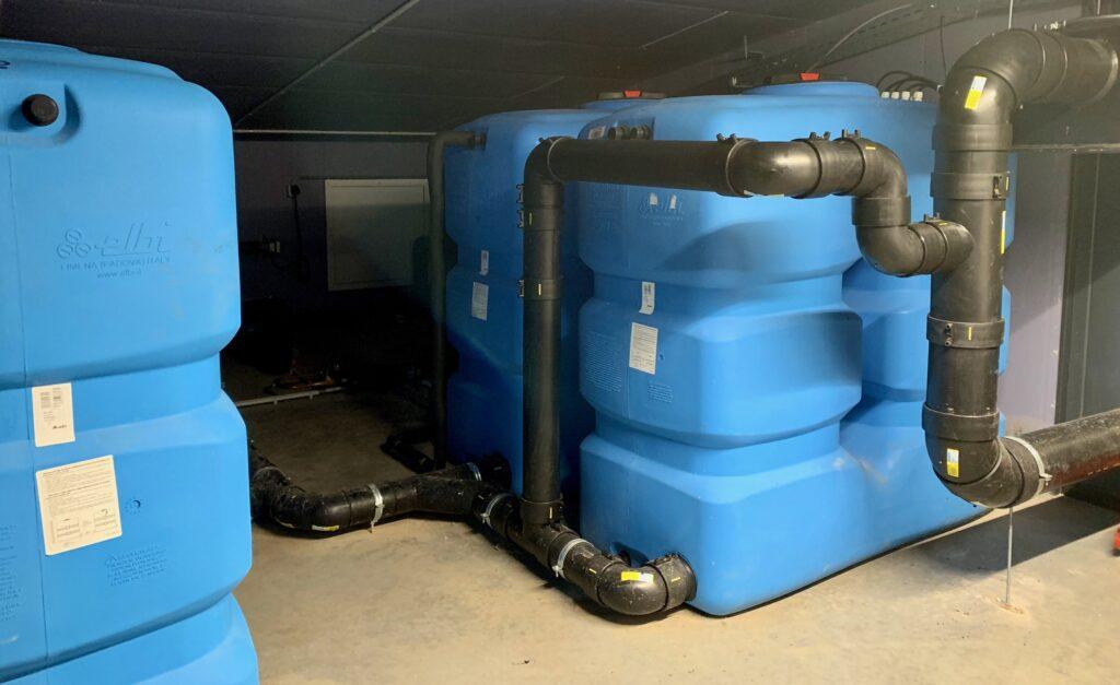 Grijs water-installatie Upcyclecentrum Almere recyclen Care4Circulair Modulo Milieustraten