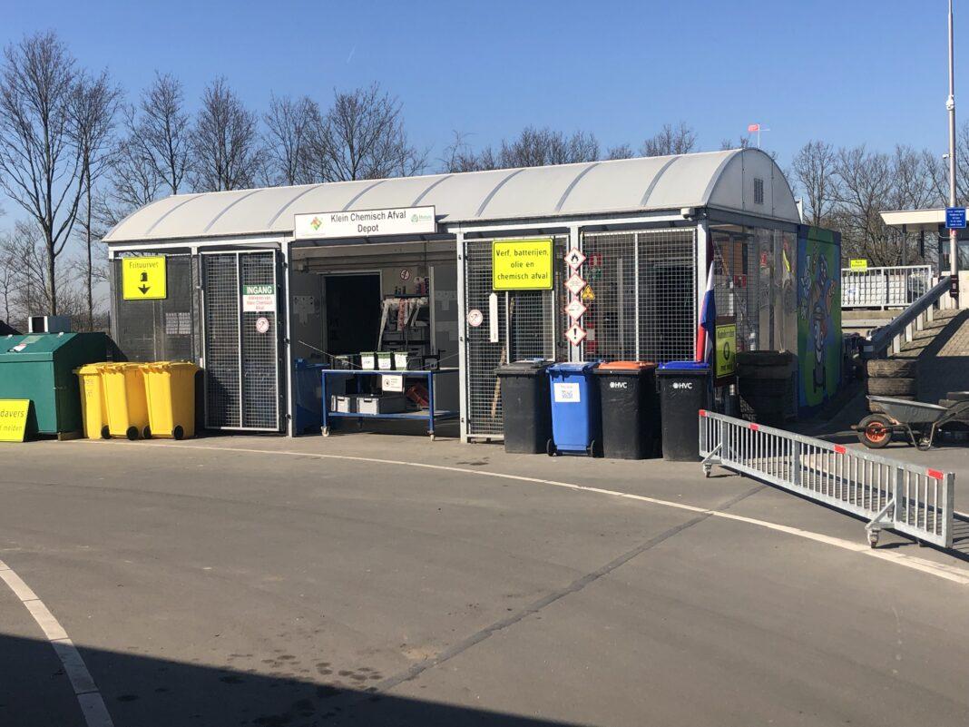 KCA depot voor klein chemisch afval in Emmeloord Modulo Milieustraten Care4Circulair