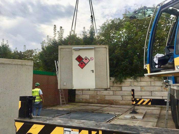 Depot voor klein chemisch afval KCA U-elementen ecogranulaat duurzaam circulair bouwen #Care4Circulair