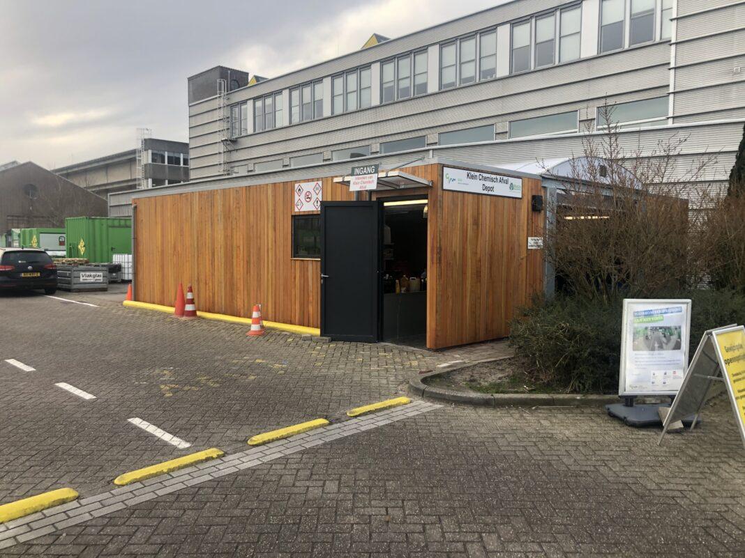 Depot voor klein chemisch afval Huizen GAD KCA modulair circulair bouwen circulaire milieustraat Modulo Milieustraten